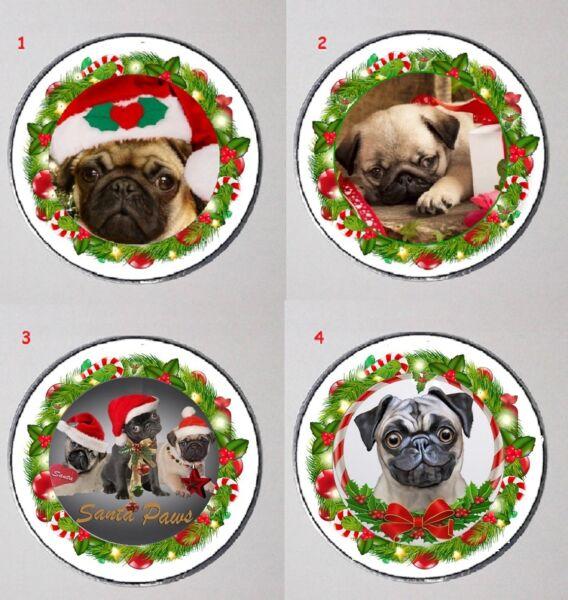 Mops Pug Weihnachten Christmas Mini Spiegel