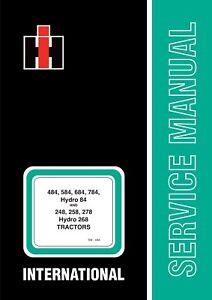 484 584 684 784 Hydro 84 & 248 258 278 Service Manual-afficher Le Titre D'origine