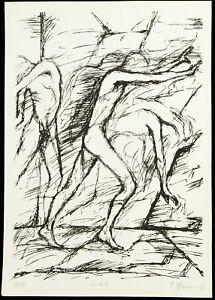 DDR-Kunst-034-Hindurch-034-1983-Lithographie-Frank-HERRMANN-1955-D-handsigniert