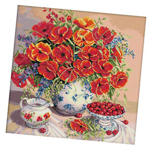 Flowers-Cherry-Dimensions-Counted-Cross-Stitch-Kit-Stamped-14CT-Needlecrafts
