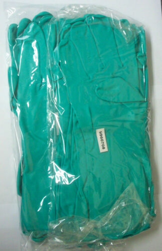 12 Pairs PPE Chemical Resistant Long Sleeves Nitrile Work Gloves Size Large
