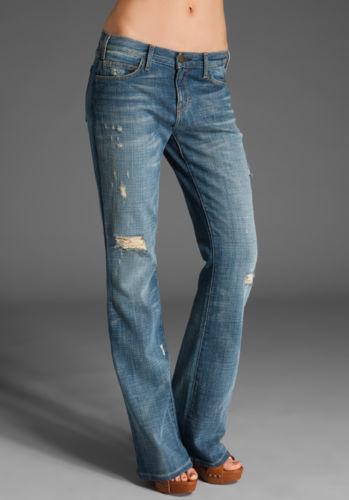 NWT    CURRENT ELLIOTT  24    THE COWBOY  Super Vintage Destroy Bootcut Jean