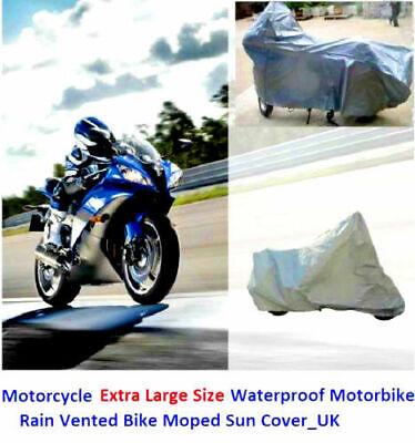 XXXL Motorcycle Waterproof Outdoor Motorbike Rain Snow Dust Vented Bike Cover UK