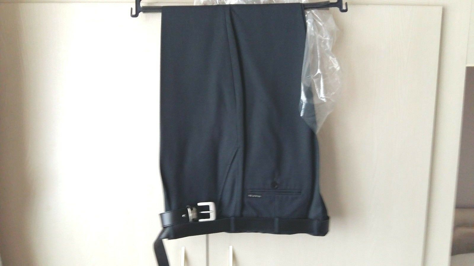 Haft Mens Trousers 46 Regular Haft Charcoal Grey with Belt BRAND NEW  LOW POST