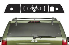 Vinyl Decal 3rd Brake Light Bio Wrap Kit for Jeep Grand Cherokee 2005-2010 Black