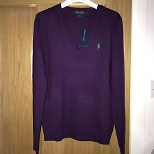 BNWT *CLEARANCE* Ralph Lauren Polo Ladies Merino Wool Jumper Size M RRP £125