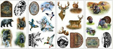 WILDLIFE wall stickers 25 big hunting decals SCRAPBOOK mancave outdoors decor