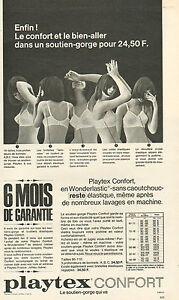 4118b25720056 Détails sur Publicité Advertising 1966 Lingerie Playtex confort soutien  gorge slip ..