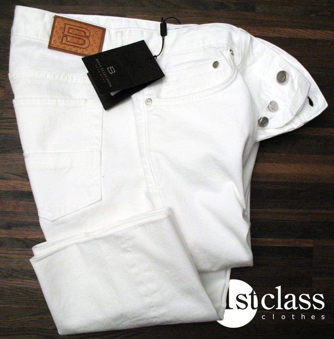 BOSS SELECTION Jeans MADISON in 33 34  white SOFT DENIM