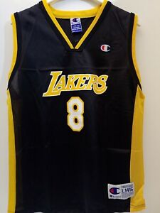Details about Kobe Bryant #8 LA LAKERS AUTHENTIC CHAMPION Jersey YOUTH LARGE RARE MISPRINT