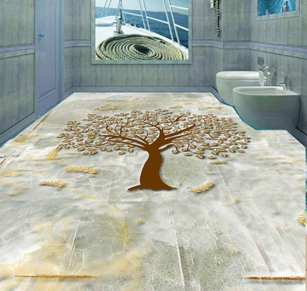 3D Abstract Tree 3 Floor WallPaper Murals Wall Print Decal 5D AJ WALLPAPER