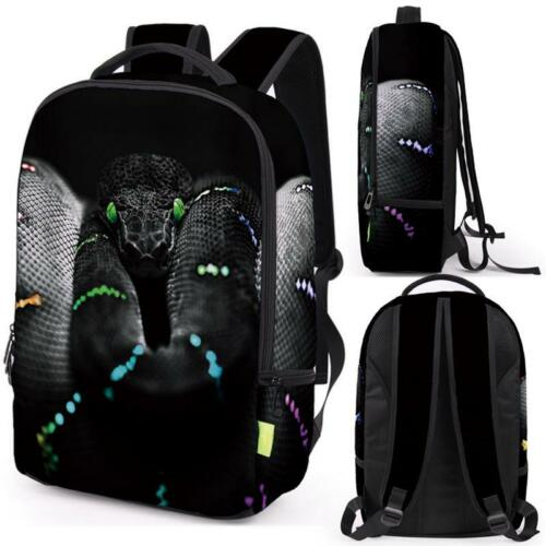 Women Men 3D Animal Shoulder School Bookbag Satchel Backpack Rucksack Travel Bag