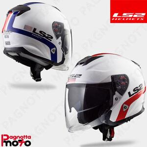 LS2 Caschi Moto Infinity Smart Bianco Rosso