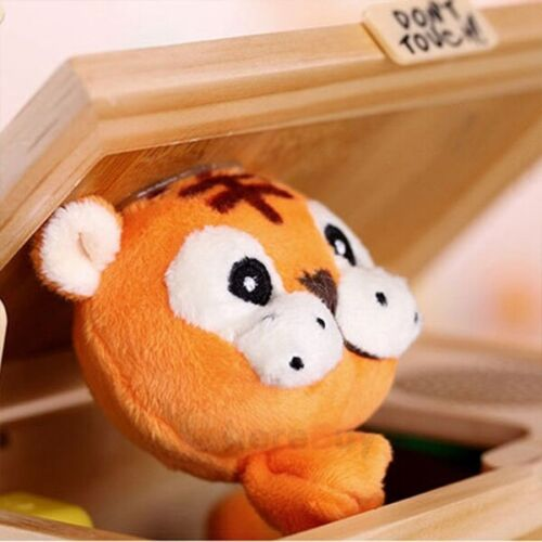 2x Useless Box With Sound Leave Me Alone Wooden Box Funny Tiger Toy Gift Upgrade
