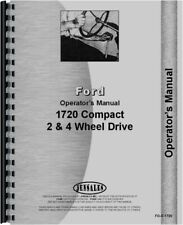 Ford 1720 Diesel 2 4wd Compact Tractor Operators Owners Manual
