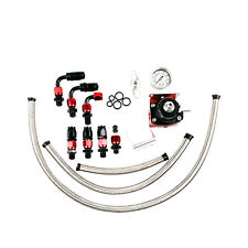 UniversaL Adjustable Fuel Pressure Regulator Kit+100PSI Oil Gauge+AN6 Fitting