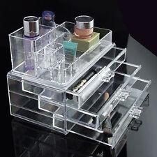 Organizador de cosméticos caja de titular de la Joyería de Acrílico para Maquillaje Cajón Caja transparente de almacenamiento de información