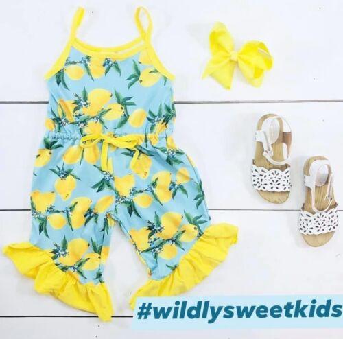 Lemon Romper Summer Fall Romper Milk Silk NWT Back To School Outfit
