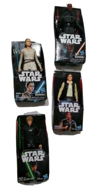 lot 4 Star Wars Darth Vader Maul Stormtrooper Jedi Knight Minions only Figures