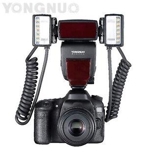 Yongnuo-YN24EX-Macro-Flash-Speedlite-TTL-2pcs-Flash-Head-4pcs-Adapter-Rings