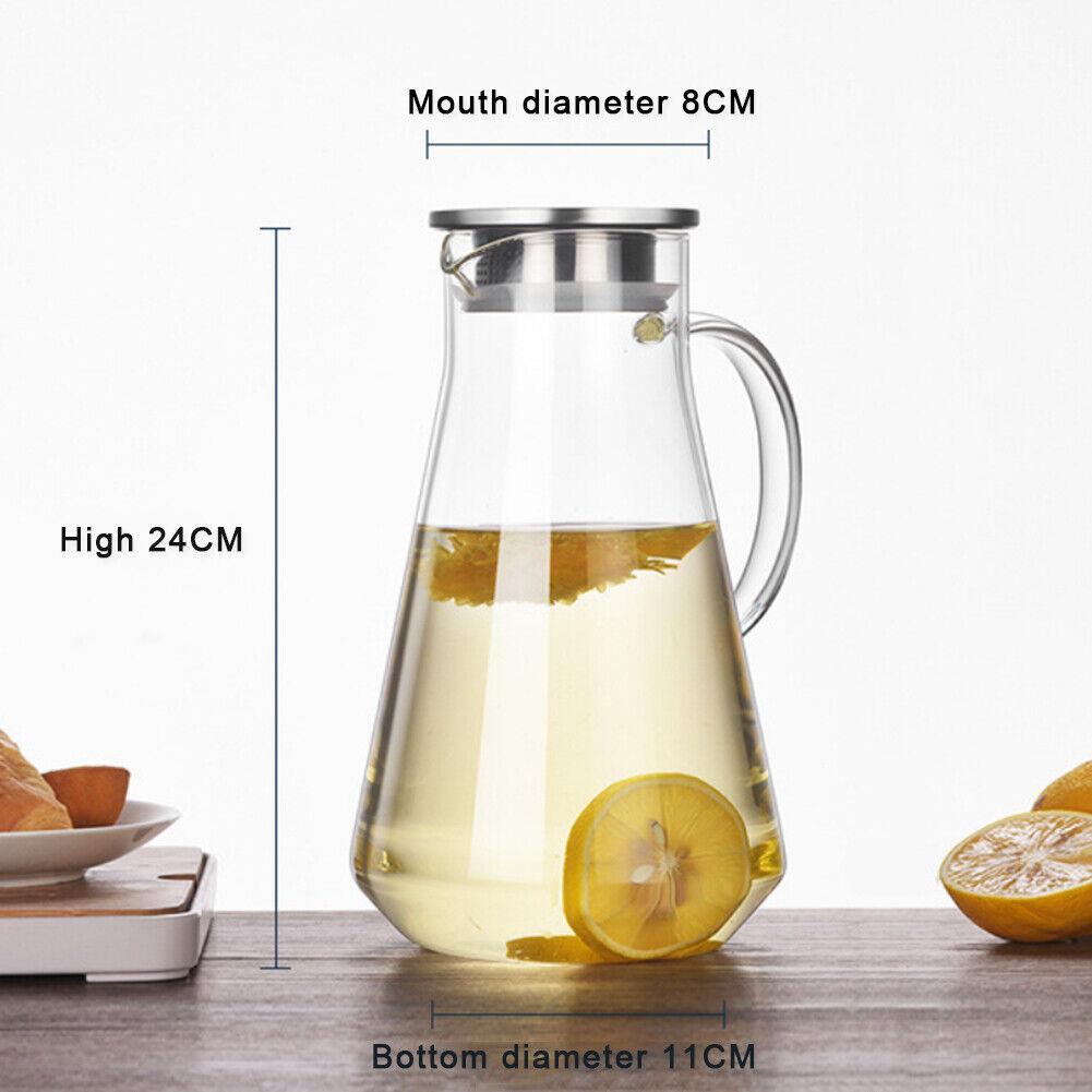 Glass Water Pitcher Borosilicate L