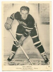 1939/40 OPC Des Smith Card #77 Chicago Black Hawks