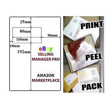 A4 Ebay Amazon Integrated Labels Sticky Address Post Pack Paper Inkjet