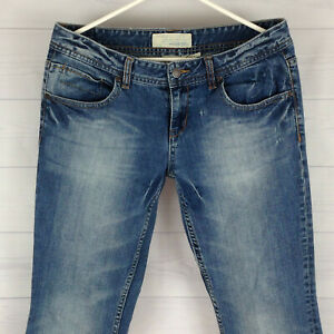 Maurices-Molli-Flare-Womens-Size-5-6-Short-Stretch-Blue-Med-Wash-Detailed-Jeans