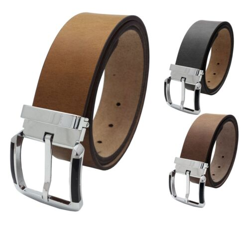 MENS LADIES REAL LEATHER HIGH QUALITY STYLISH JEANS TROUSER WAIST BELT CASUAL