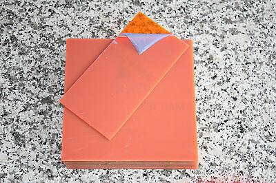 Zuschnittplatte Acrylglas 3 mm neon orange 9 Stück 200 x 77 x 3mm
