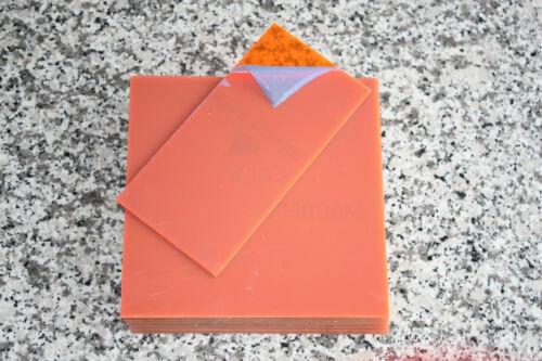 Zuschnittplatte Acrylglas 3 mm neon orange 10 Stück 200 x 200 x 3mm