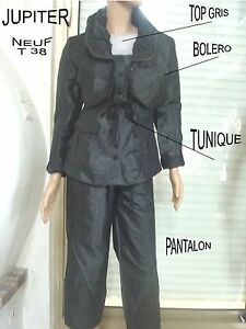 4 Pi Pantalon Bolero Ensemble Noir Tunique Top Jupiter WOYFw0Fq