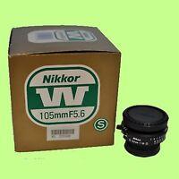 Brand New Nikon Nikkor W 105mm 105 mm f/5.6 F5.6 + COPAL no.0 Shutter
