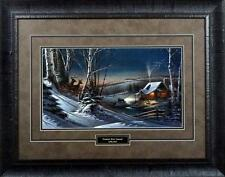Terry Redlin Evening with Friends Town Deer Print-Framed 28.5 x 22.5