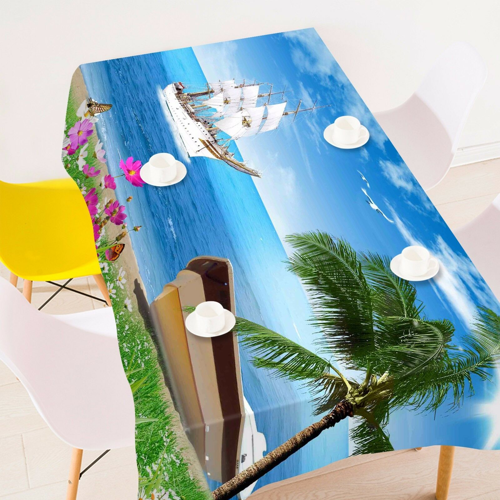 3D Sailing 982 Tablecloth Table Cover Cloth Birthday Party Event AJ WALLPAPER AU