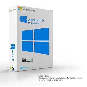 Microsoft-Windows-10-Pro-Original-64-32-Bit-Key-amp-Installationsdaten-auf-8GB-USB