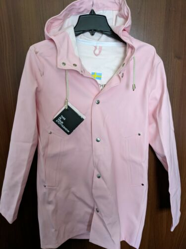 Stutterheim Womens Stockholm dusty pink raincoat j