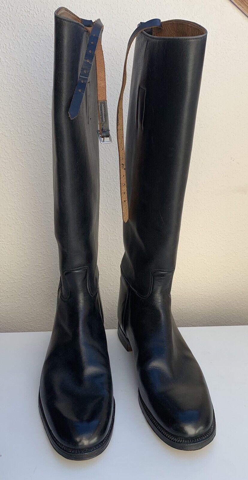 Good Quality Leather Riding Boots Narrow Slim Leg UK Size 8