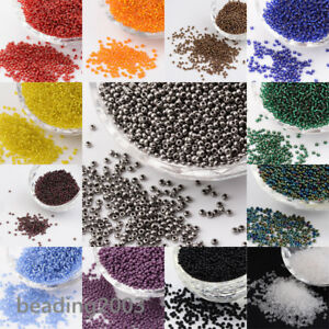 50g-11-0-Round-Glass-Seed-Beads-2x1-5mm-about-3000-3300pcs-Jewellery-Making