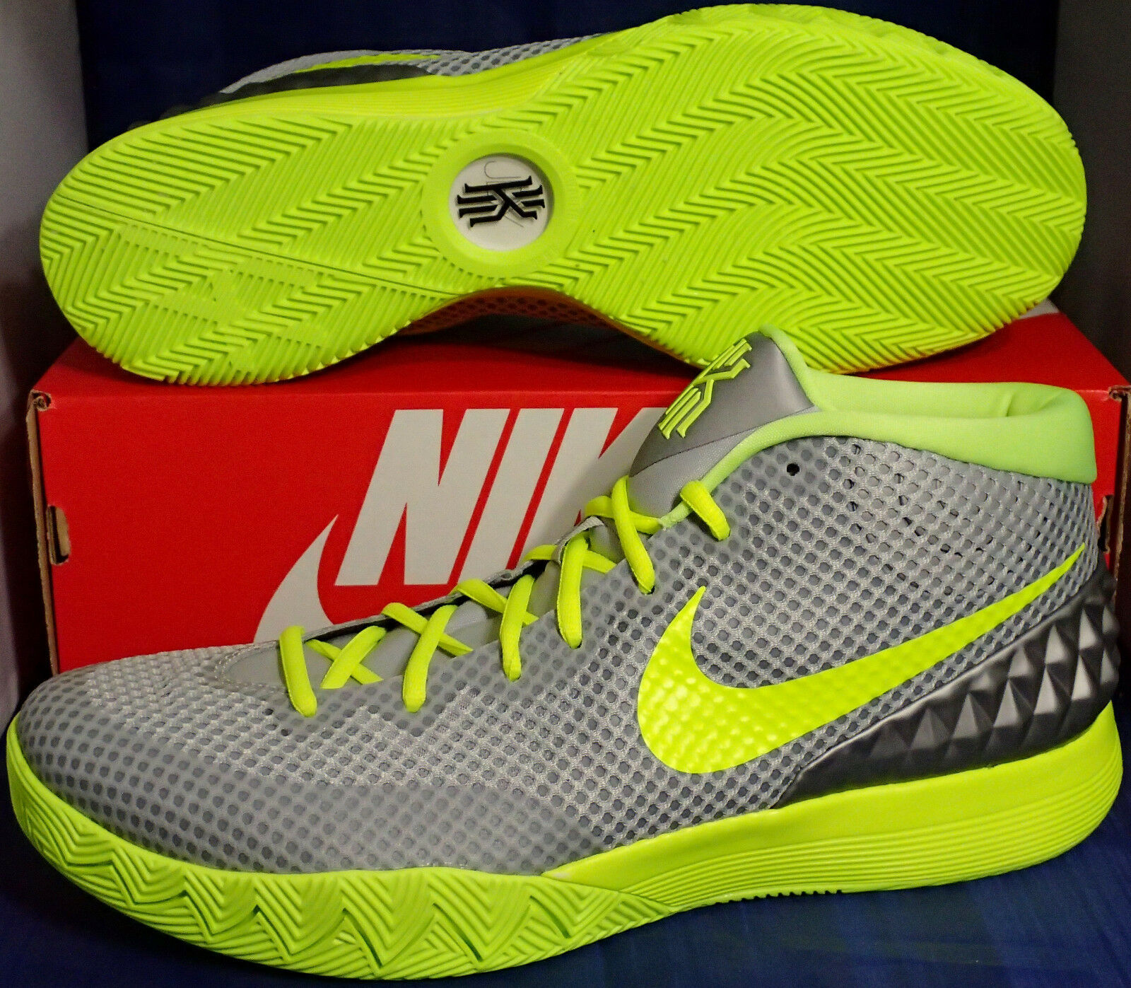 Nike Zoom Kyrie 1 iD Grey Bright Yellow SZ ) 13 ! ( 747423-991 ) SZ 1d3bb3
