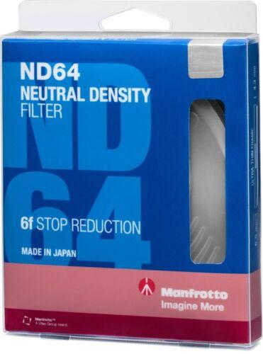 Manfrotto mfnd 64-77 Filtros de Densidad Neutra 77mm con 6 parada de pérdida de luz