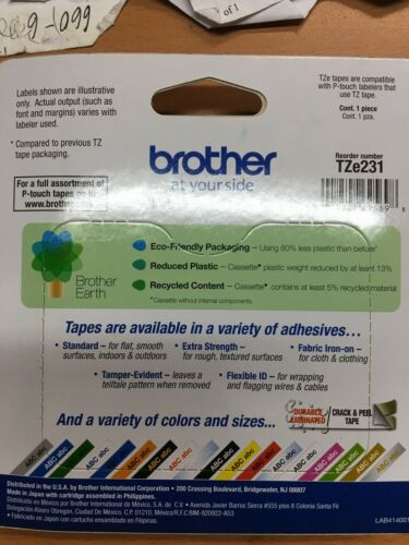 Brother Genuine P-touch TZe-231Laminated Label