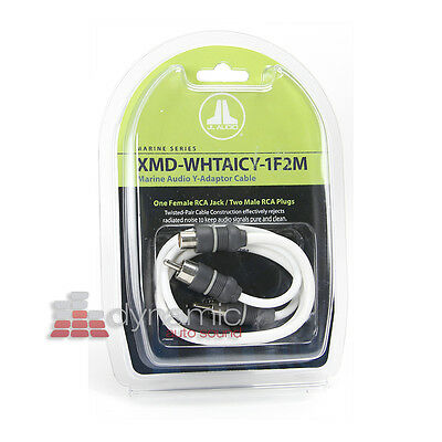 JL Audio RCA Patch Cable XMD-WHTAIC4-25 Marine Rated.. Free Shipping