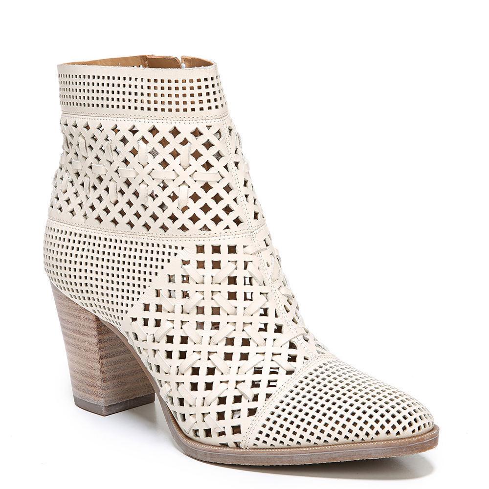 NEU  Franco Sarto DAMSEL Perforated Woven Leder Ankle Boot NIB Ivory MILK 10/9