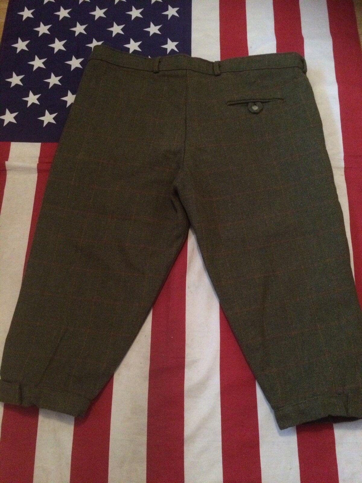 Mens Tweed Shooting Breeks Trousers Waist 42'
