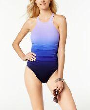 Magicsuit Miraclesuit Merlot Purple Danika 1-Pc High Neck Swimsuit Sz 16 NWT