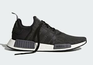 brand new 6e14f c411c Image is loading Adidas-NMD-R1-Nomad-Runner-Black-Carbon-Grey-