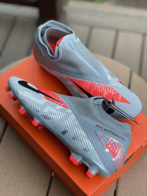 Nike Men Phantom VSN 2 Academy DF FG Cleats Gray Soccer