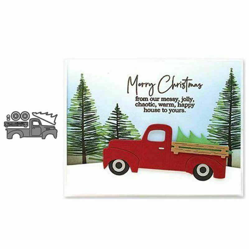 5 Christmas Cutting Dies,Metal Cutting Dies Stencil Metal Template for DIY Scrapbook Album Paper Card
