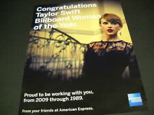 TAYLOR SWIFT we are proud to be working with you from 2009-1989 2014 PROMO AD